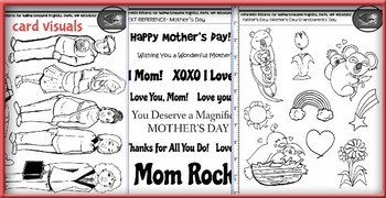 Mother's Day Card and Comic Making Kit! Poems, Pictures, Text, & Characters!