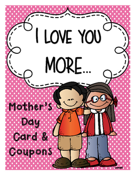 Mother's Day Card and Coupons Writing