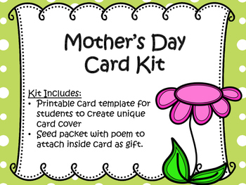 Mother's Day Card and Gift Kit