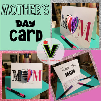 Mother's Day Card with 3D heart