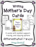 Mother's Day Cards: Differentiated for ALL your Special Ed Students
