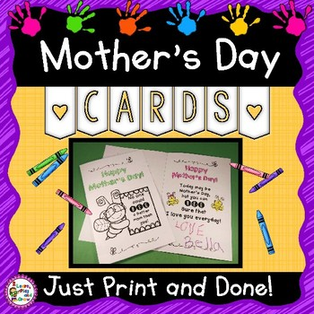 Mother's Day Cards 15 versions - Just Print and Go