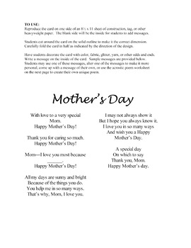 Mother's Day Cards & Poems