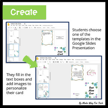 Mother's Day Card Templates in Google Slides