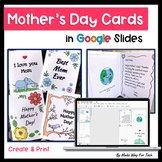 Mother's Day Card Templates | Mother's Day Gift for Mom | for Google Classroom