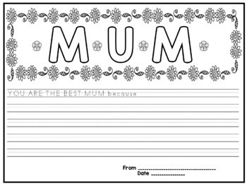 FREE Mother's Day Writing Cards