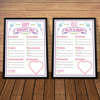 Mother's Day Checklist Cards BUNDLE