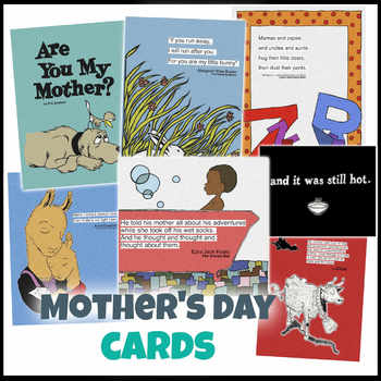 Mother's Day Classic Picture Book Cards // Cards to Print and Color