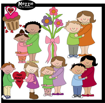 Mother's Day Outline Clip Art