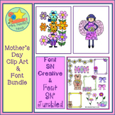 Mother's Day Clip Art and Font Bundle