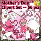Mother's Day Clip Art Set Commercial and Personal Use