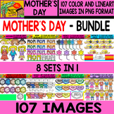 Mother´s Day - Clipart Bundle Set - # 107 Items