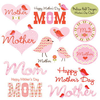 Mother's Day Clipart With Cute Birds