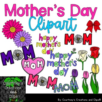 Mother's Day Clipart for Personal and Commercial Use