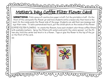 Mother's Day Coffee Filter Flower Card *English & Spanish*