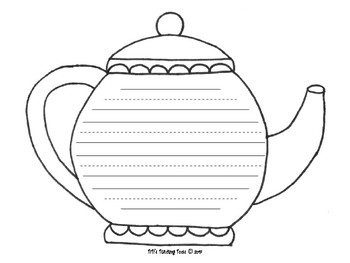 Mother's Day Color and Write Activity - Tea Theme
