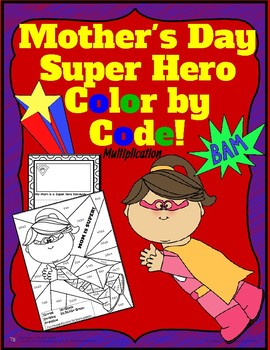 Mother's Day Color by Code and Writing Activity!