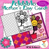 Mother's Day Coloring Craft Card Printable (Mom Stepmom Grandma Aunt versions)