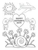 Mother's Day Coloring Fine Motor Skills Life-Skills Art Print Black Line Master