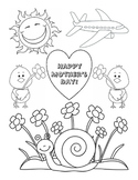 Mother's Day Coloring Fine Motor Skills Life-Skills Art Pr