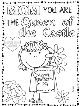 Mother's Day Writing Activities and Coloring Gift Packet  for Pre-K-2nd Grade