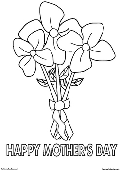 Mother's Day Coloring Page 1