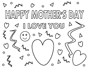 Mother's Day Coloring Page 2
