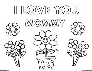 Mother's Day Coloring Page 3