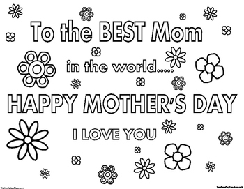 Mother's Day Coloring Page 4