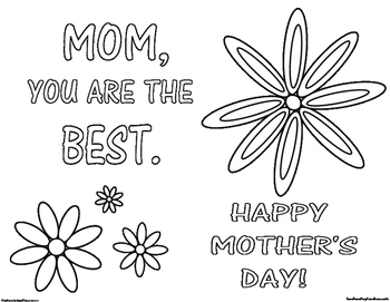 Mother's Day Coloring Page 5