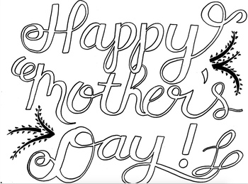 Mother's Day Coloring Page - FREE