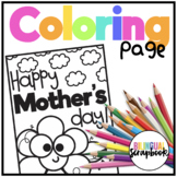 Mother's Day Coloring Page FREEBIE
