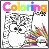 Pineapple Coloring Page FREEBIE