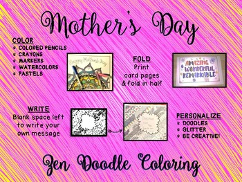 Mother's Day Coloring Pages & Cards