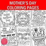 Mother's Day Coloring Pages-Mom Coloring Pages- Set of 6