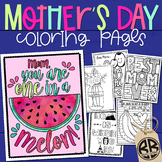 Mother's Day Coloring Pages & Writing Papers