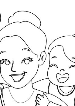 Mother's Day Coloring page XXL