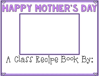 Mother's Day Cookbook {Editable}