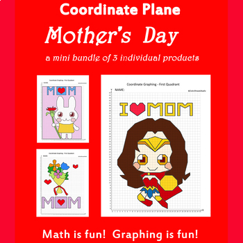 Mother's Day Coordinate Graphing Picture: Mother's Day Bundle