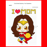 Mother's Day Coordinate Graphing Picture: Superhero Mom