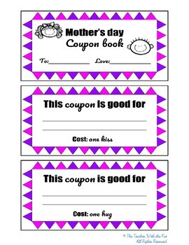 Mother's Day Coupon Book