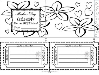 Mother's Day Craft Coupon Book Print and Go