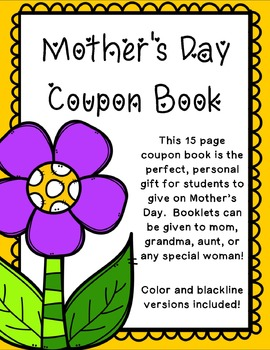 Mother's Day Coupon Book - Student Made