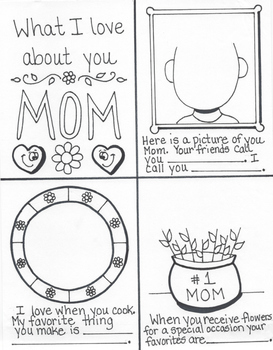 Mother's Day Coupon Page and Mini Book