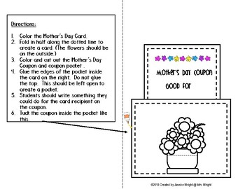 Mother's Day Coupon Pocket Craft