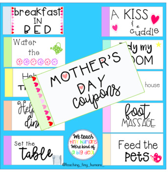 Mother's Day Craft Coupon Book