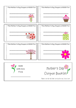 Mother's Day Coupons - Perfect for all ages