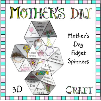 Mother's Day Craft - 3D Fidget Spinners