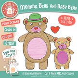 Mother's Day Craft – Momma Bear and Baby Bear