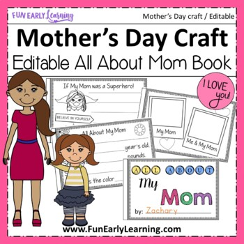 Mother's Day Craft - All About Mom Book